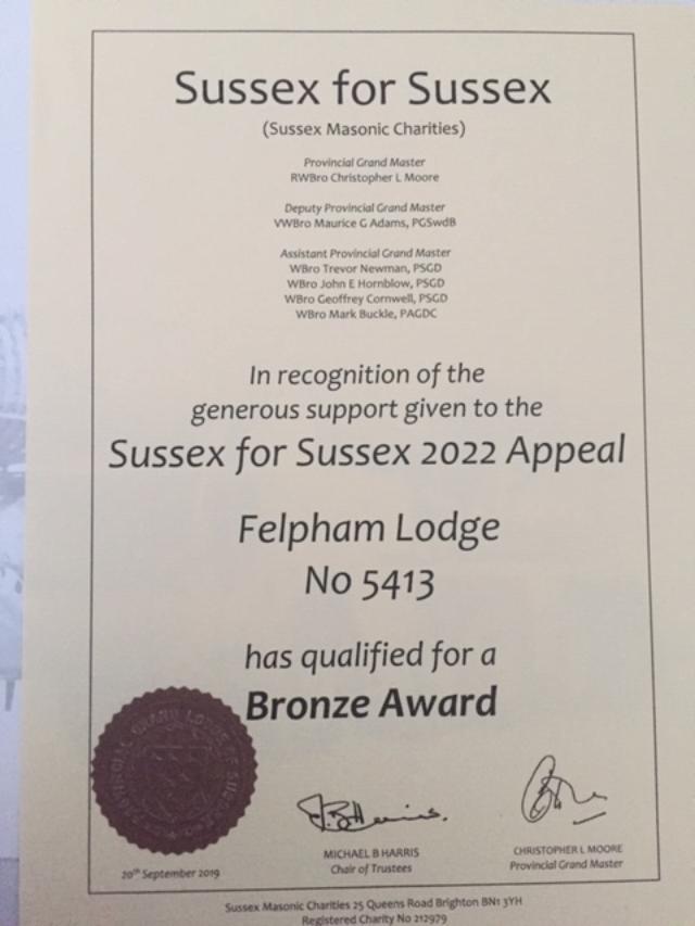 Sussex for Sussex Bronze Award